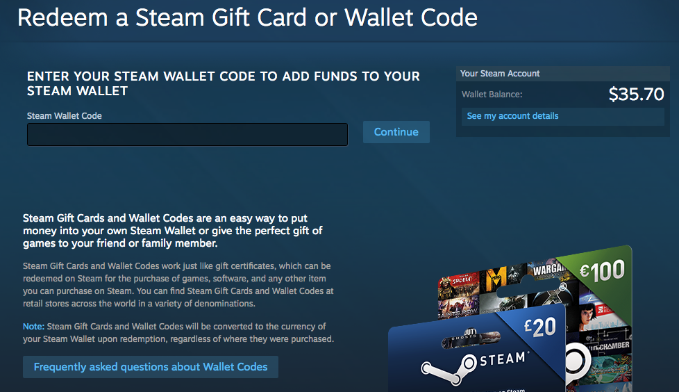 How To Redeem A Steam Gift Card Or Wallet Code Gameflip Help