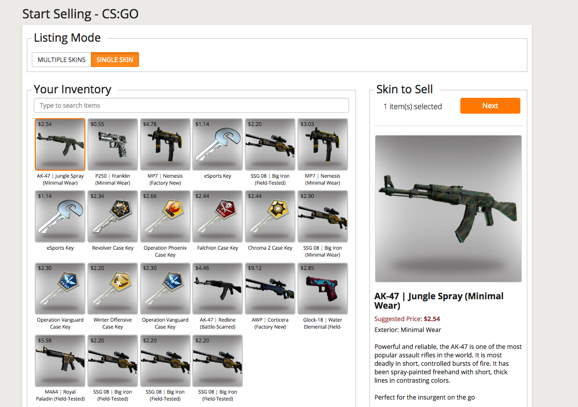 How to Sell CSGO Skins/Items – Gameflip Help