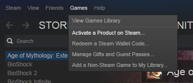 activate cd key steam